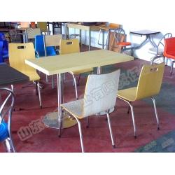 曲木四人座餐厅餐桌椅