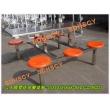 6人不锈钢餐厅桌椅