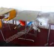 不锈钢折叠四人座食堂餐桌