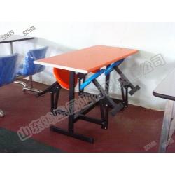 不锈钢四人连体铁支架折叠餐桌椅